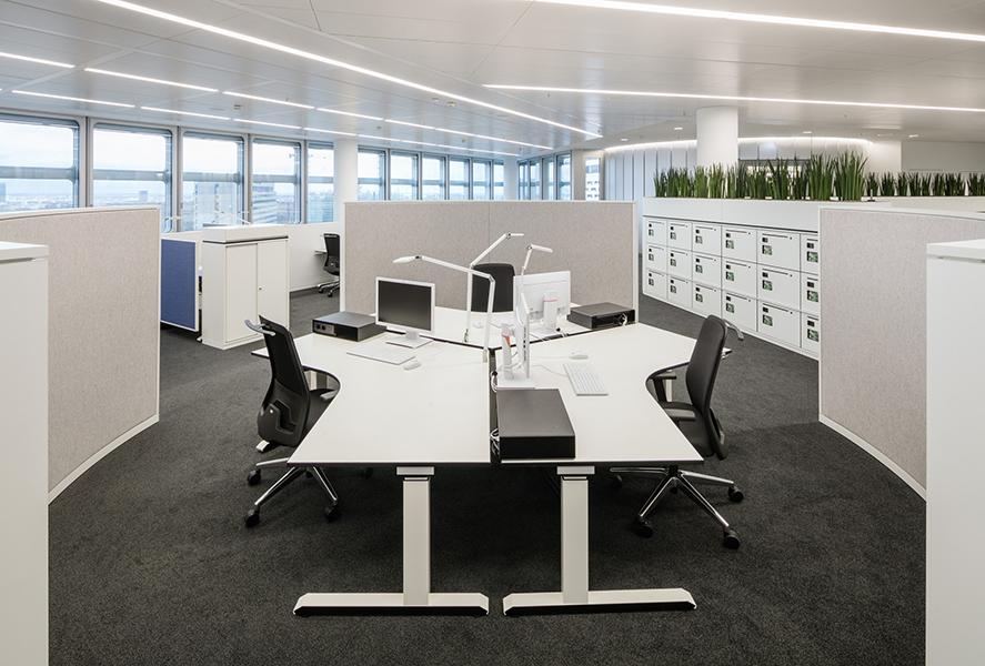 moderne burokonzepte grundriss, smart working: hvb tower, Design ideen